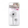 Huawei Y3 II, TPU szilikon tok, pitypang minta, Liquid Glitter, ezüst/átlátszó