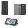 Huawei Y635, Oldalra nyíló tok, stand, Smart Magnet, fekete