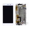 Huawei Y6 II Compact kompatibilis LCD modul kerettel, OEM jellegű, fehér