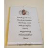Hunbolt Asztalra tehető és falra akasztható üveglapos Hiszek egy.. 21X30 cm