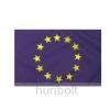 Hunbolt Európa zászló Hurkolt poliészter nyomott mintás kültéri zászló. 80x120cm
