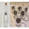 Hunbolt Ón Mohács matrica hosszú pálinkás üveg, 6db ón Mohács matrica pálinkás pohárral
