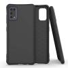 Hurtel Puha színes tok rugalmas gél tok Samsung Galaxy A41 fekete telefontok
