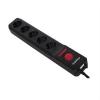 Ibiza LC506W-GE, elosztó, 3 méteres kábel, 5 csatorna, távirányító mellékelve