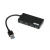 iBox I-BOX HUB USB 3.0 SLIM, 4-ports, fekete
