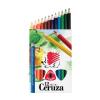 ICO Színes ceruza készlet, háromszögletű, vastag, ICO