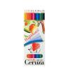 """ICO Színes ceruza készlet, hatszögletű, hajlékony, ICO """"Süni"""", 12 különböző szín"""