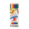 """ICO Színes ceruza készlet, hatszögletű, hajlékony,  """"Süni"""", 12 különböző szín"""
