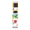 """ICO Színes ceruza készlet, hatszögletű,  """"Süni"""", 6 különböző szín"""