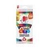 ICO Színes ceruza készlet, kétvégû, háromszögletû, ICO Süni, 12 különbözõ szín