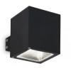 IDEAL LUX Kültéri fali lámpa Snif Square AP1 nero 123080, fekete