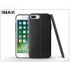 IMAK Apple iPhone 7 Plus hátlap képernyővédő fóliával - IMAK Vega Leather - fekete
