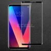 IMAK kijelzővédő üveg LG V30 mobiltelefonhoz fekete színű kerettel 3D 9H