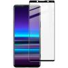 IMAK Sony Xperia 5 II kijelzővédő edzett üvegfólia (9H, fekete), prémium minőség