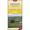 Indonézia: Kalimantan - Kelet-Malájzia - Brunei térkép - Nelles