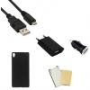 Indulócsomag EXTRA, Sony Xperia XA, fekete szilikon tokkal
