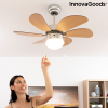 InnovaGoods Mennyezeti Ventilátor Lámpával InnovaGoods Ø 75 cm 55W