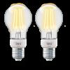 INNR LED lámpa , égő , INNR , izzószálas hatás , filament , 2 x E27 , 2 x 4.2 Watt , meleg...
