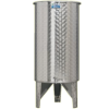 Inox 300 l-es bortartály, úszófedeles, paraffinos, 1 csappal (Zottel) (10478)