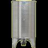 Inox 600 l-es bortartály, úszófedeles, paraffinos, 2 csappal (Zottel) (10492)