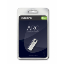 Integral INFD8GBARC USB 2.0 Metal ARC pendrive - 8GB - fém pendrive