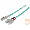 Intellinet Fiber optic patch cable LC-SC duplex 2m 50/125 OM3 multimode