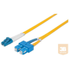 Intellinet Fiber optic patch cable LC-SC duplex 2m 9/125 OS2 singlemode