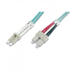 Intellinet optikai patch kábel LC-SC duplex 5m 50/125 OM3 multimode