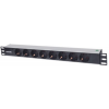 "Intellinet Power strip rack 19"" 1.5U 250V/16A 7x Schuko 3m"
