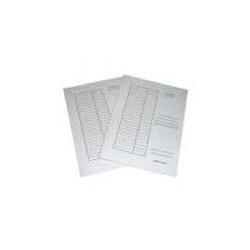 IRATGYŰJTŐ (PÓLYÁS DOSSZIÉ) A/4 PD/VIC fehér karton, táblázatos irattartó