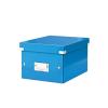 Irattároló doboz, A5, lakkfényű, LEITZ Click&Store, kék