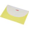 Irattartó tasak, A4, PP, patentos, két zsebes, PANTA PLAST, pasztell sárga