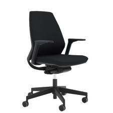 """. Irodai szék, állítható karfával, fekete lábkereszt """"1890 INFINITY"""", fekete forgószék"""