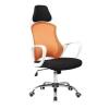 Irodai szék, fehér/narancssárga, ARIO