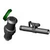 """IRRITEC Vízkonnektor szett alj+kulcs 3/4""""KM"""