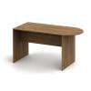 Ívelt asztal tárgyalóterembe, sötét bardolino, TEMPO ASISTENT NEW 022