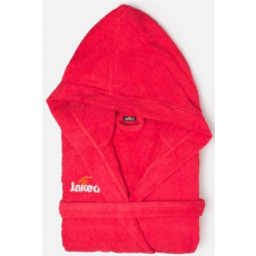 Jaked Basic Sponge Bathrobe Junior Red 10