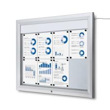 Jansen Display Teo megvilágított mágneses vitrin, egyszárnyas, 8 x A4% irodai kellék