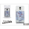 Jean Paul Gaultier Samsung SM-G900 Galaxy S5 hátlap - Jean Paul Gaultier Tatoo - white/navy blue