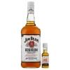 Jim Beam Bourbon whiskey 40% 1 l + Jim Beam Red Stag cseresznye ízesítésű szeszes ital 40% 0,05 l