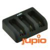Jupio Jupio Compact USB Tripla akkumulátor-töltő GoPro Hero akkumulátorokhoz