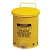 Justrite Fém szemetes kosár gyúlékony és veszélyes anyagokra, térfogata 23 l, sárga%