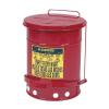 Justrite Fém szemetes kosarak gyúlékony és veszélyes anyagokra, térfogata 34 l, Kapacitás: 34 L, Anyag: fém, Szín: Piros, Típus: pedálos, Modell: szabadon álló%