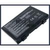 K50IJ 4400 mAh 6 cella fekete notebook/laptop akku/akkumulátor utángyártott