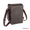 Kalahari Fotós táska bőr KAAMA L-19, valódi bőr oldaltáska, válltáska bivalybőr színben