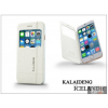 Kalaideng Apple iPhone 6 flipes tok - Kalaideng Iceland 2 Series View Cover - white
