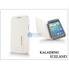 Kalaideng Samsung i8260 Galaxy Core flipes tok - Kalaideng Iceland Series - white