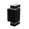 KANLUX 22440 ZEW EL fekete kültéri oldalfali lámpa JDR IP44 2x35W