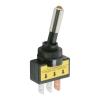 Kapcsoló 2 állású LED-es sárga 12V 20A 09058SA