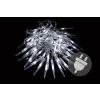 Karácsonyi dekoratív világítás - jégcsapok - 60 LED hideg fehér